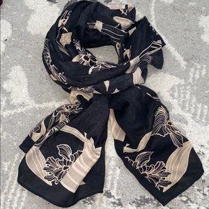 Black patterned scarf